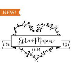Inspiration: handmade wedding logo | All that wedding planning ...