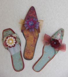 "4"" Paper Shoes - Nice for card fronts!"