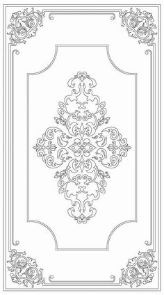 Color your own Aubusson rug Stencil Patterns, Stencil Designs, Pattern Art, Embroidery Patterns, Pattern Design, Motif Art Deco, Islamic Art Pattern, Arabic Pattern, Ideias Diy