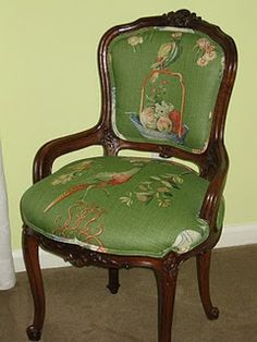 What a gorgeous chair....frame and fabric!