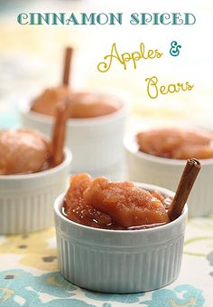 Cinnamon Spiced Apples & Pears - stove top potpourri that you will want to eat too! Cinnamon Recipes, Pear Recipes, Cinnamon Spice, Fruit Recipes, Holiday Recipes, Dessert Recipes, Stove Top Potpourri, Fruit Dishes, Apple Pear