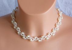 Swarovski+Kristall+Braut+Halskette++Perle+Braut+Ha+von+akcrystalbead+auf+DaWanda.com
