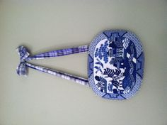 blue willow Needlepoint finished as a hanging plate Blue Willow China, Blue And White Vase, Willow Pattern, Hanging Plates, Needlepoint Stitches, Blue Plates, Love Blue, Bargello, China Patterns