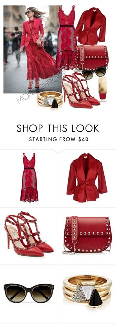"""red: head to toe"" by jessicaeishow ❤ liked on Polyvore featuring Three Floor, Isa Arfen, Valentino, Chloé, Brixton and Burberry"