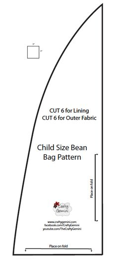 Easy self draft bean bag pattern with great instructions. No messy ...