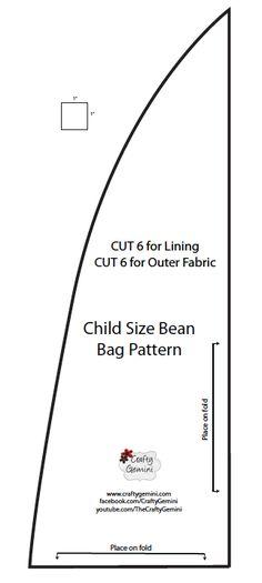 Child Size Bean Bag Chair -DIY Video Tutorial - Crafty Gemini