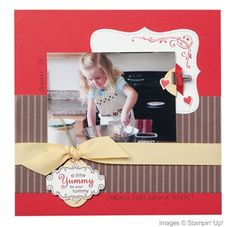 Yummy Scrapbook Layout | Josee Smuck-Stampin' Up! Canada Demonstrator