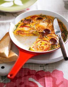 Spanish Omelette // Tápláló reggeli kolbásszal, paradicsommal: spanyol omlett / Éva Magazin