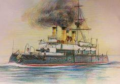 Acorazado Navarin 1896, hundido en la Batalla de Tsushima en 1905