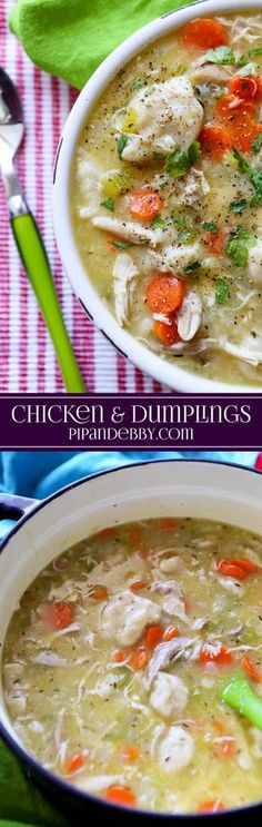 Chicken And Dumplings Easy Chicken And Dumplings Recipe Made With Refrigerated Dough - Done In Less Than 40 Minutes And So Good Soup Recipes, Chicken Recipes, Dinner Recipes, Cooking Recipes, Healthy Recipes, Chicken Meals, Healthy Chicken, Crockpot Recipes, Chicken Chili