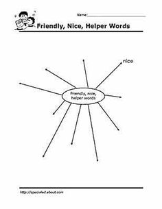 Worksheets You Can Print to Build Social Skills: Nice Words Brainstorm