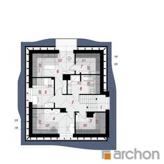 Dom w zefirantach 5 (P) Bungalow House Design, House Plans, Floor Plans, How To Plan, Two Story Houses, Home Plans, Modern, Architecture, Interiors
