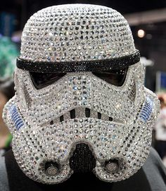 Bad Ass Blinged out StormTrooper Helmet. Star Wars Helmet, Geek Movies, Anakin And Padme, Star Wars Merchandise, Star War 3, The Force Is Strong, Star Wars Party, Nerd Geek, Geek Stuff