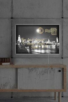 Paris Gold Letter LED Lightbox Art