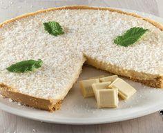 Tarta de Chocolate Blanco y Coco Quiches, Cornbread, Hummus, Feta, Cheesecake, Coconut, Pie, Cooking, Ethnic Recipes
