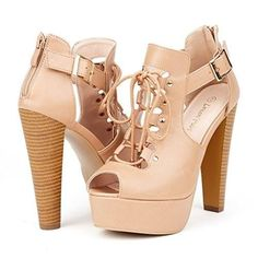 Elegant Womens Gladiator Peep Toe High Heel LaceUp Enjoyable Platform Pumps Sandals Shoes Pattern