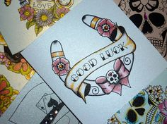 Lucky Horse Shoe Old School Tattoo Handmade by VickiliciousDesigns, £2.90