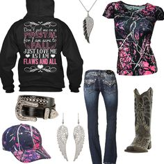 c0a19e22365e Love Me As I Am Hoodie Outfit - Real Country Ladies Country Style Outfits