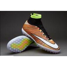 4e25596168319 Nike MercurialX Proximo Street TF Brown Branco Preto sapatos de futebol  baratos Chuteiras Nike