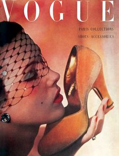 October-1950-Vogue-14May The love affair between woman and shoe sometimes reaches an uncontrollable passion....