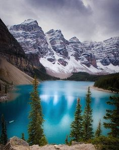 Lake Moraine at the Canadian Rockies - just visited. One of the most beautiful places I've ever seen.