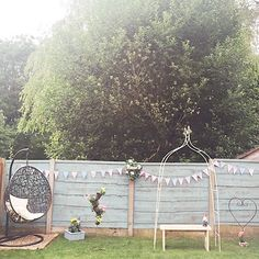 Start of our garden make over :-) #shabbychic #shabbychicgarden #bunting #cute #cathkidston