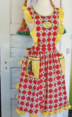 Mama Bear Vintage Apron Mother Child by reimaginedtreasures