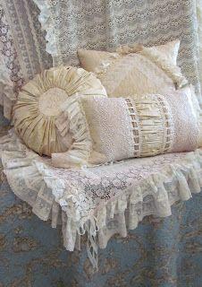 Angela Lace: Cream and Beige Cushions
