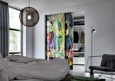 Master door in sliding system Premium. Interior Architecture, Interior Design, Oversized Mirror, Curtains, House, Furniture, Instagram, Prague, Home Decor