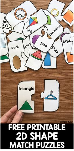 Free Printable Shape Puzzle Learning Shapes for Toddlers Shape Activities Kindergarten, 2d Shapes Activities, Teaching Shapes, Shapes Worksheets, Sensory Activities, Free Preschool, Preschool Learning, Autism Preschool, Preschool Social Studies