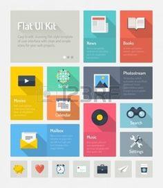 インフォグラフィック: 明るい灰色の背景で web プロジェクトを分離プロセスの単純なナビゲーション アイコン セットまたは抽象的な地下鉄のユーザー インタ フェース キットとミニマルなスタイリッシュなインフォ グラフィックのウェブページの要素のフラットなデザイン モダンなベクトル イラスト概念