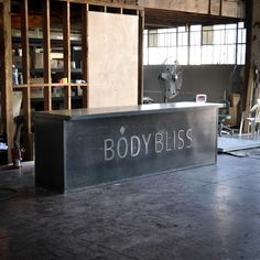 Custom Counter for Body Bliss by Vintage Industrial Furniture