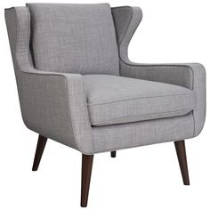 Danish Wing Chair Arena Cement $549 Freedom