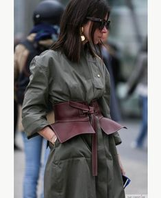 Put A Belt On It! 7 Ways To Style Your Coat+#refinery29