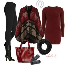 """Winter Outfit-Over 40 Fashion"" by sheila-r on Polyvore"