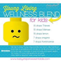 Young Living Essential Oils Kids Wellness Blend   http://www.stopdropandoil.com