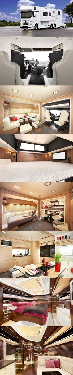 Amazing Luxury Rv Gallery That Never You Seen Before 13 image is part of 30 Amazing Luxury RV Gallery that Never You Seen Before gallery, you can read and see another amazing image 30 Amazing Luxury RV Gallery that Never You Seen Before on website Rv Motorhomes, Luxury Motorhomes, Trailer Interior, Rv Interior, Tyni House, Luxury Van, Tent Reviews, Rv Trailers, Travel Trailers