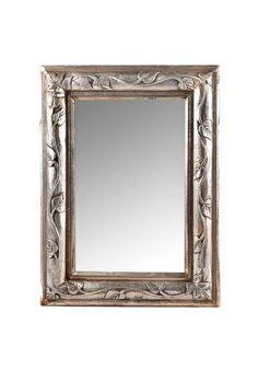 Espejo con marco tallado madera espejos marcos para for Espejos de pared con marco de madera