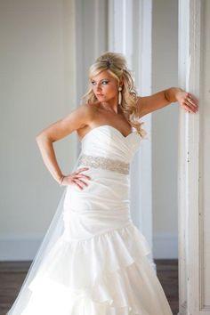 #Bridal hair #half up