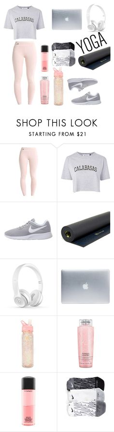 """""""Calm pink"""" by r3tr0 ❤ liked on Polyvore featuring Tee and Cake, NIKE, Gaiam, Incase, ban.do, Lancôme and MAC Cosmetics"""