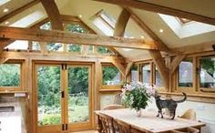 Oak Designs have a wonderful Outdoor Living range. Perfect for an outdoor dining space, office, home gym or music room. Enquire to find a design for you. Oak Framed Extensions, House Extensions, Kitchen Extensions, Kitchen Interior, Room Interior, Room Kitchen, Kitchen Ideas, Brick Extension, Extension Google