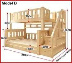 22 Low Funds DIY Bunk Mattress Plans to Improve Your Children Room Stair Drawers, Bed Design, House Design, Joinery, Bunk Beds, Kid Beds, Wood Furniture, Furniture Plans, Bed Frame