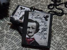 Poe Book Necklace Edgar Allen Poe Book Necklace by laminartz