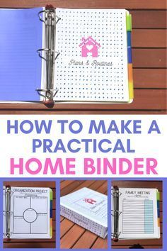 How to make a practical home management binder that simplifies your to-do list. A must-have home management tool for every household. Home Binder, Home Planner, Planner Tips, Binder Planner, College Planner, Study Planner, College Tips, Weekly Planner, Binder Organization