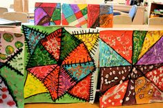 Art Project Girl: Art Lesson Crazy Quilts