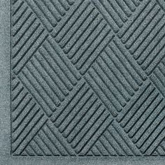 """Andersen 221 Bluestone Polypropylene WaterHog Fashion Diamond Entrance Mat, 10' Length x 3' Width, For Indoor/Outdoor by Andersen. $126.68. No other mat in the industry traps water and dirt so effectively. WaterHog mats are constructed of rubber reinforced face nubs and the """"diamond"""" design provides crush proof scraping action. The border for WaterHog Fashion features the same 100 percent polypropylene fiber system as the mat surface. Premium 24 oz/sq anti-static Polypropylene fi..."""