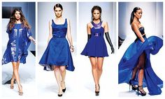 Repinned from #ApparelNews because it's a $90 subscription to them. But at LAFW it seemed Royal Blue was an increasing trending color. Natalie E