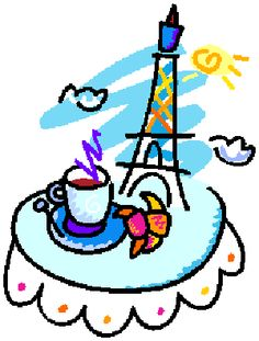 coffee sitting on a bistro cafe table printables pinterest rh pinterest com French Poodle Clip Art French Vacation Clip Art
