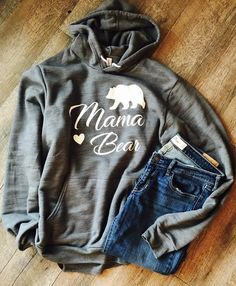 Mama bear supersoft unisex hoodie or t-shirt                      – Mavictoria Designs Hot Press Express