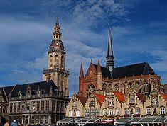 Veurne market square, Belgium